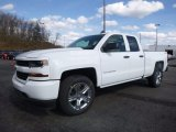2017 Summit White Chevrolet Silverado 1500 Custom Double Cab 4x4 #118900135