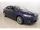 2015 Deep Impact Blue Metallic Ford Fusion SE #118900277