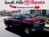 2014 Deep Ruby Metallic Chevrolet Silverado 1500 WT Double Cab 4x4 #118989195