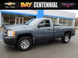 2013 Blue Granite Metallic Chevrolet Silverado 1500 Work Truck Regular Cab 4x4 #118989185