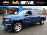 2017 Deep Ocean Blue Metallic Chevrolet Silverado 1500 LT Crew Cab 4x4 #118989182