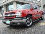 2005 Victory Red Chevrolet Silverado 1500 LS Crew Cab #11883982
