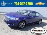 2013 Deep Impact Blue Metallic Ford Fusion Titanium #119050901