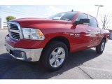 2017 Flame Red Ram 1500 Big Horn Crew Cab 4x4 #119111663