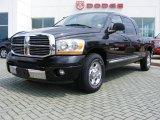 2006 Brilliant Black Crystal Pearl Dodge Ram 1500 Laramie Mega Cab #11892354