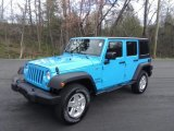 Chief Blue Jeep Wrangler Unlimited in 2017