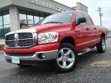 2007 Inferno Red Crystal Pearl Dodge Ram 1500 SLT Quad Cab 4x4 #11884013