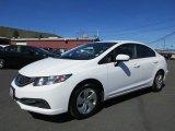 2015 Honda Civic Taffeta White