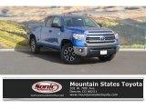 2017 Blazing Blue Pearl Toyota Tundra SR5 Double Cab 4x4 #119280869