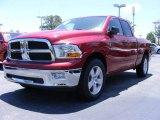 2009 Inferno Red Crystal Pearl Dodge Ram 1500 SLT Quad Cab #11892140
