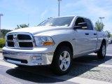 2009 Bright Silver Metallic Dodge Ram 1500 SLT Quad Cab #11892149