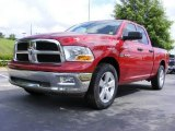 2009 Inferno Red Crystal Pearl Dodge Ram 1500 SLT Quad Cab #11892154