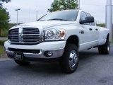 2009 Bright White Dodge Ram 3500 Big Horn Edition Quad Cab 4x4 Dually #11892216