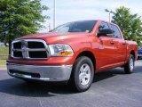 2009 Sunburst Orange Pearl Dodge Ram 1500 SLT Crew Cab #11892168