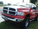 2005 Flame Red Dodge Ram 1500 SLT Quad Cab 4x4 #11899017
