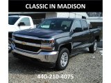 2017 Graphite Metallic Chevrolet Silverado 1500 LT Double Cab 4x4 #119355115