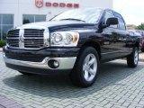 2008 Brilliant Black Crystal Pearl Dodge Ram 1500 Big Horn Edition Quad Cab #11892341