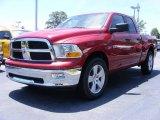 2009 Inferno Red Crystal Pearl Dodge Ram 1500 SLT Quad Cab #11892159