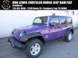 2017 Extreme Purple Jeep Wrangler Unlimited Sport 4x4 #119384863