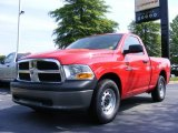 2009 Flame Red Dodge Ram 1500 SLT Regular Cab #11892164