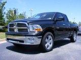 2009 Brilliant Black Crystal Pearl Dodge Ram 1500 Big Horn Edition Quad Cab #11892206