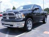 2009 Brilliant Black Crystal Pearl Dodge Ram 1500 Big Horn Edition Crew Cab #11892187