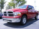 2009 Inferno Red Crystal Pearl Dodge Ram 1500 SLT Crew Cab #11892170