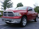 2009 Inferno Red Crystal Pearl Dodge Ram 1500 Big Horn Edition Crew Cab #11892221