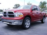 2009 Inferno Red Crystal Pearl Dodge Ram 1500 SLT Quad Cab #11892137