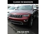 2017 Velvet Red Pearl Jeep Grand Cherokee Limited 4x4 #119436050