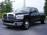 2009 Brilliant Black Crystal Pearl Dodge Ram 3500 Laramie Quad Cab Dually #11892179