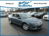 2011 Steel Blue Metallic Ford Fusion Hybrid #119436006