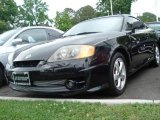 Jet Black Hyundai Tiburon in 2003