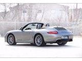 2012 Platinum Silver Metallic Porsche 911 Carrera GTS Cabriolet #119503095