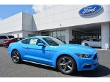 2017 Grabber Blue Ford Mustang Ecoboost Coupe #119503236