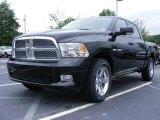 2009 Brilliant Black Crystal Pearl Dodge Ram 1500 Sport Crew Cab #11892225