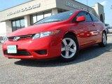 2007 Rallye Red Honda Civic EX Coupe #11883972