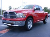 2009 Flame Red Dodge Ram 1500 Big Horn Edition Crew Cab #11892190
