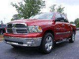 2009 Inferno Red Crystal Pearl Dodge Ram 1500 Big Horn Edition Crew Cab #11892231