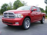 2009 Inferno Red Crystal Pearl Dodge Ram 1500 Sport Crew Cab #11892199