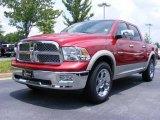 2009 Inferno Red Crystal Pearl Dodge Ram 1500 Laramie Crew Cab #11892228
