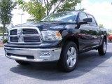 2009 Brilliant Black Crystal Pearl Dodge Ram 1500 Big Horn Edition Crew Cab 4x4 #11892128
