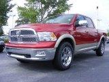 2009 Inferno Red Crystal Pearl Dodge Ram 1500 Laramie Crew Cab #11892178
