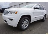 2017 Bright White Jeep Grand Cherokee Overland 4x4 #119553189