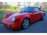 1992 Porsche 911 Turbo Coupe Front 3/4 View