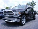 2009 Brilliant Black Crystal Pearl Dodge Ram 1500 Big Horn Edition Crew Cab #11892232
