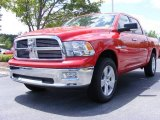 2009 Flame Red Dodge Ram 1500 Big Horn Edition Crew Cab 4x4 #11892165