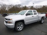 2017 Silver Ice Metallic Chevrolet Silverado 1500 Custom Double Cab 4x4 #119603069