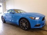 2017 Grabber Blue Ford Mustang EcoBoost Premium Coupe #119604053