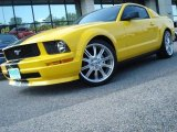 2006 Screaming Yellow Ford Mustang V6 Deluxe Coupe #11883990